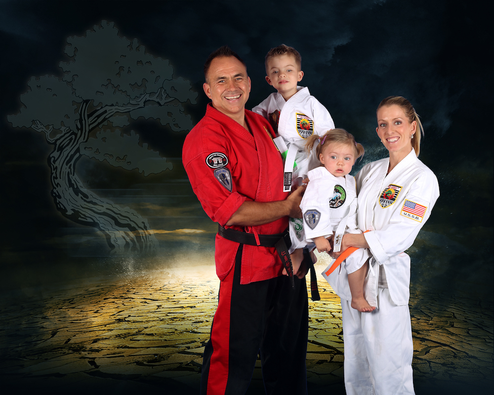 Instructor Jason Sell with his family